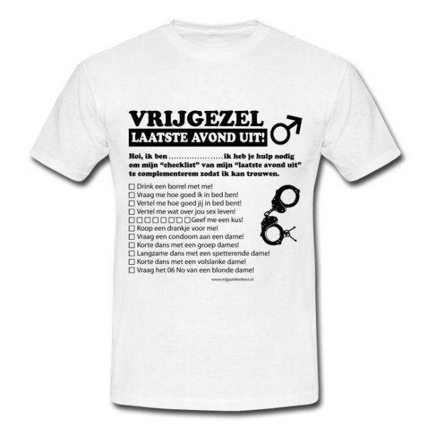 T-shirt vrijgezellenfeest met opdrachten