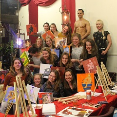 Workshop Naakt Schilderen vrijgezellenfeest