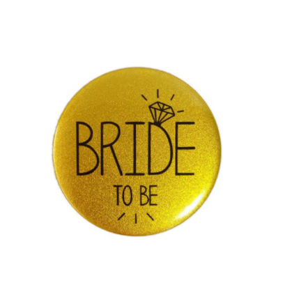 Button Bride to be goud